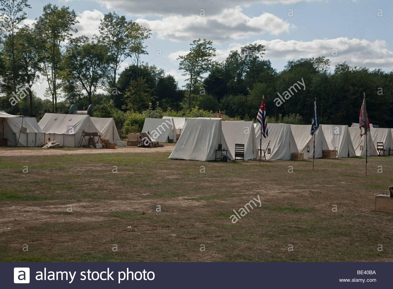 Campamento de guerra civil americana Imagen De Stock