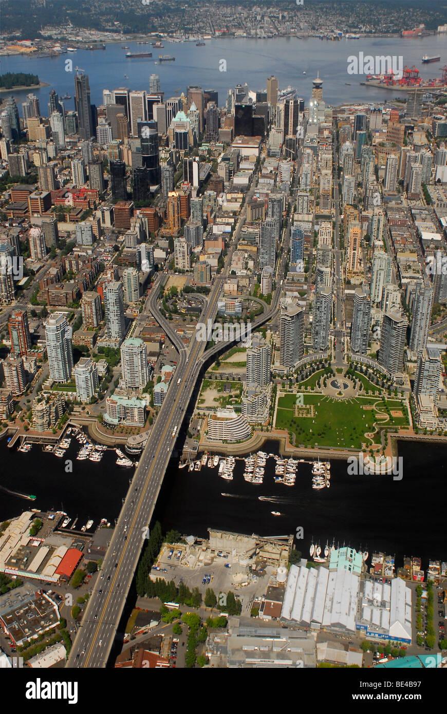 Imagen aérea de Vancouver, British Columbia, Canadá Imagen De Stock