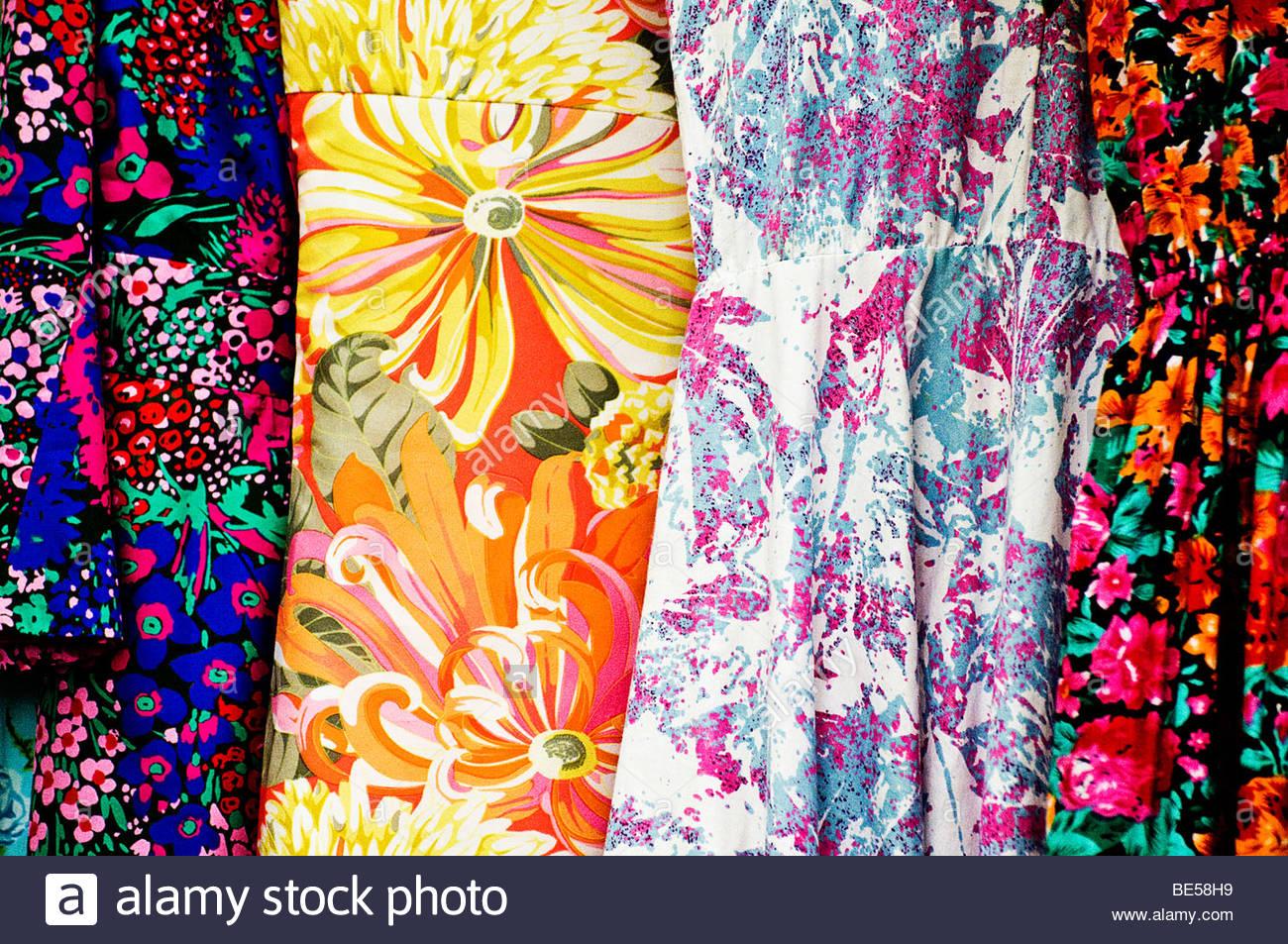 Vestidos de flores Imagen De Stock