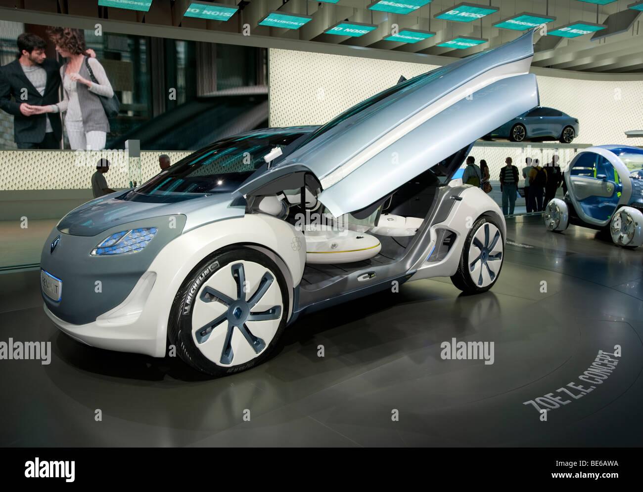 Concepto Zoe ZE coche eléctrico por Renault en la exhibición en Frankfurt Motor Show 2009 Imagen De Stock