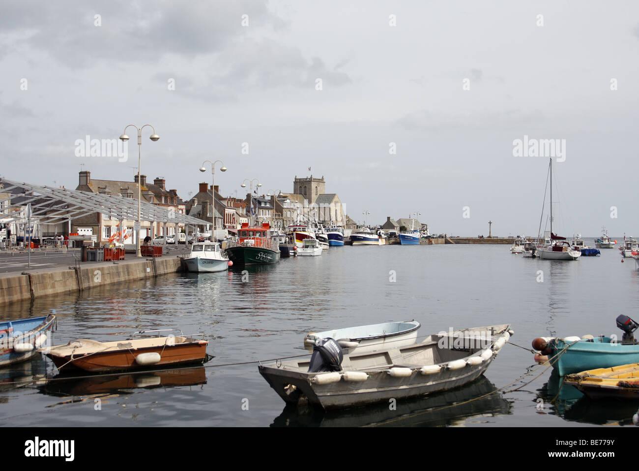 Barfleur, Normandie Foto de stock