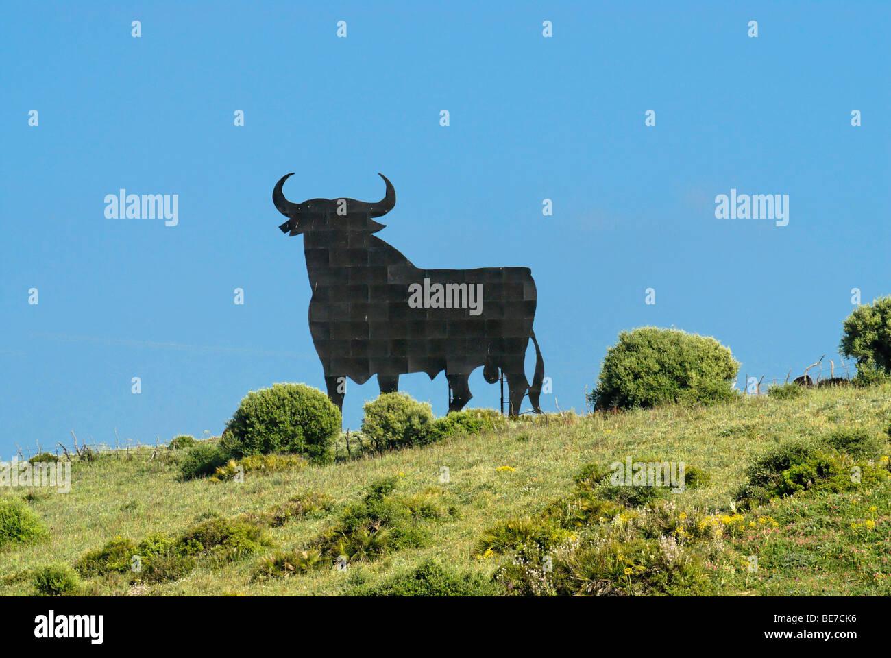 Toro de Osborne, el toro de Osborne, cerca de Cádiz, Andalucía, España, Europa Imagen De Stock