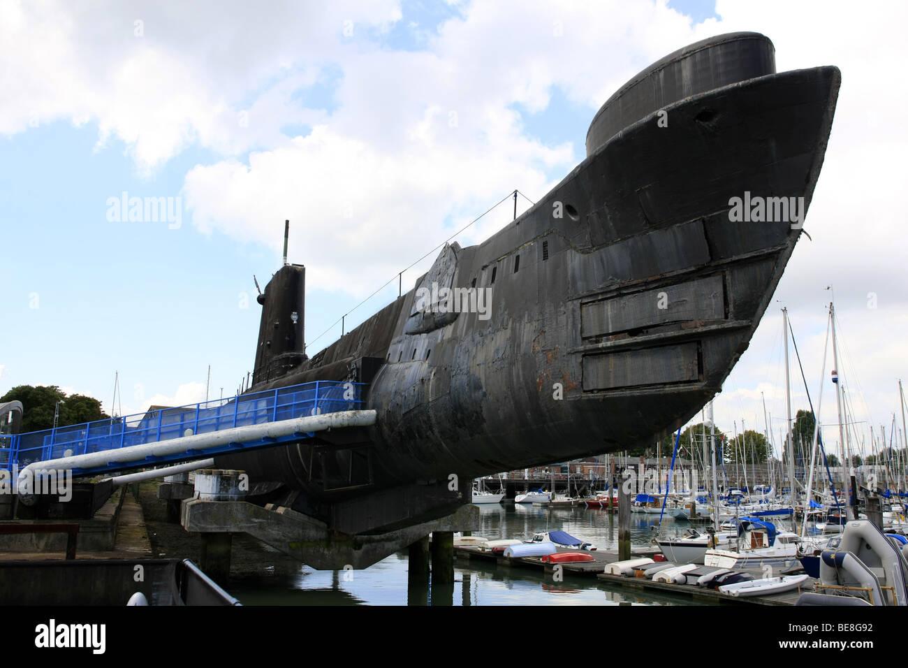 HMS Alianza en la Royal Navy museo submarino Gosport Imagen De Stock