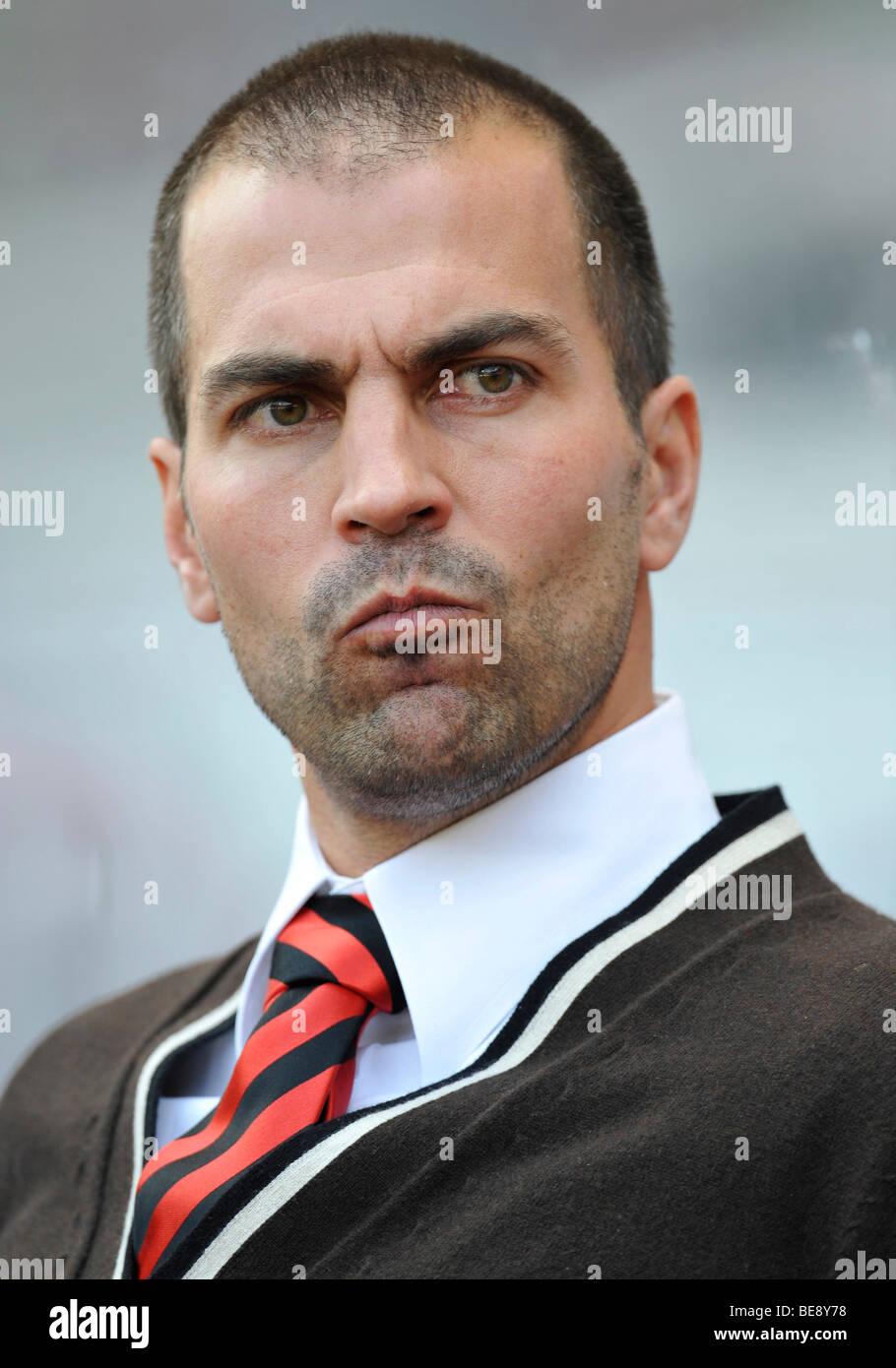 Entrenador Markus Babbel, VfB Stuttgart, tensa Imagen De Stock