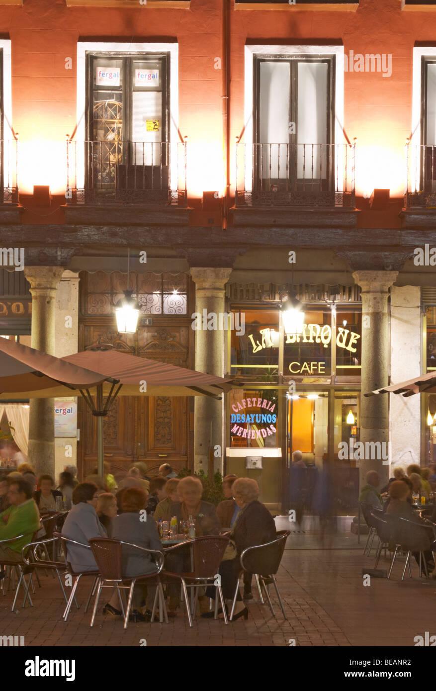 Terraza Restaurante Plaza Mayor Valladolid España Castilla Y