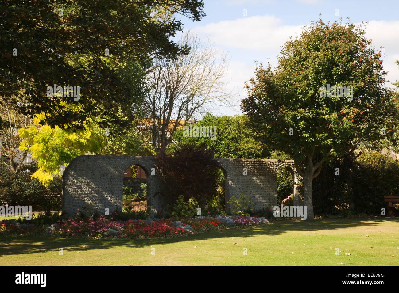 El Crouch, jardines Seaford, Sussex, Inglaterra, Reino Unido. Imagen De Stock