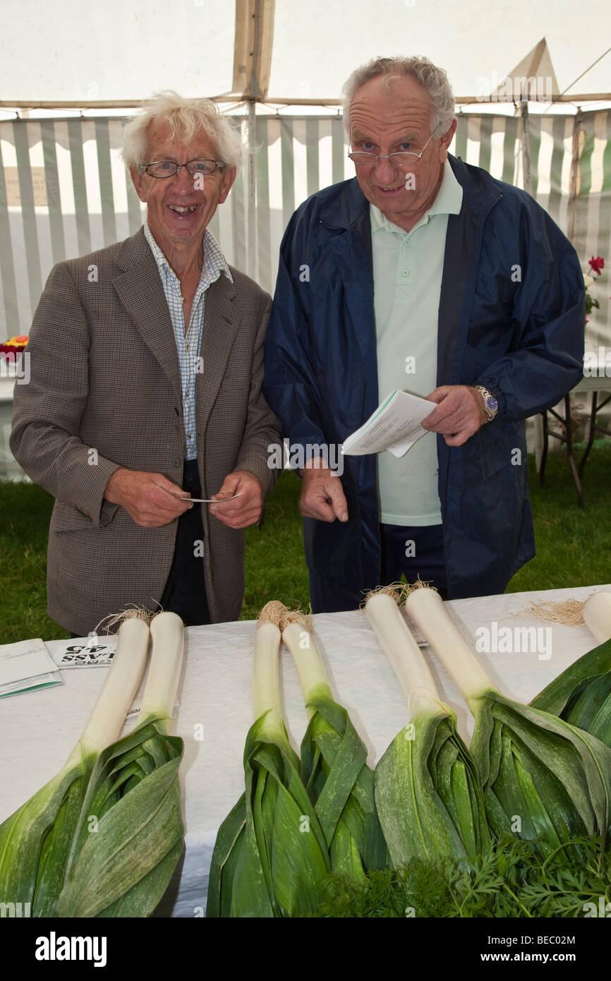Expositores, Wensleydale Agrcultural Show, celebrada a principios de septiembre cerca de Leyburn, North Yorkshire Foto de stock