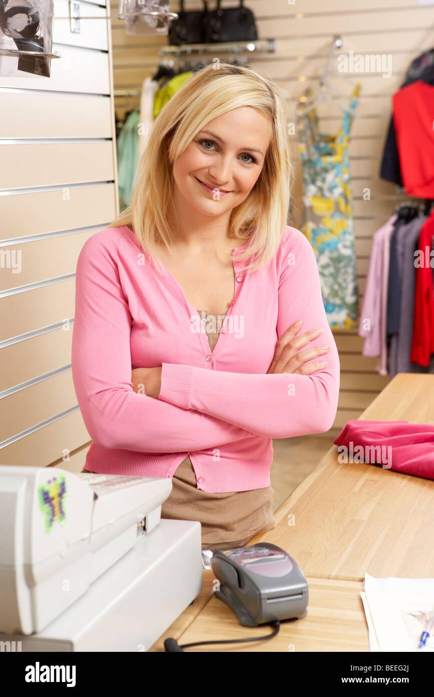 Female Shop Assistant Imágenes De Stock & Female Shop Assistant ...