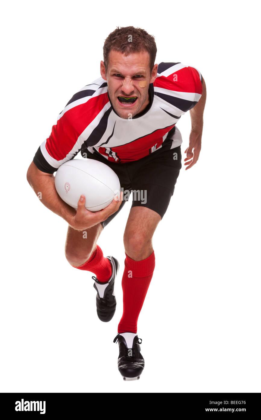 Jugador de rugby - parte de una serie Imagen De Stock