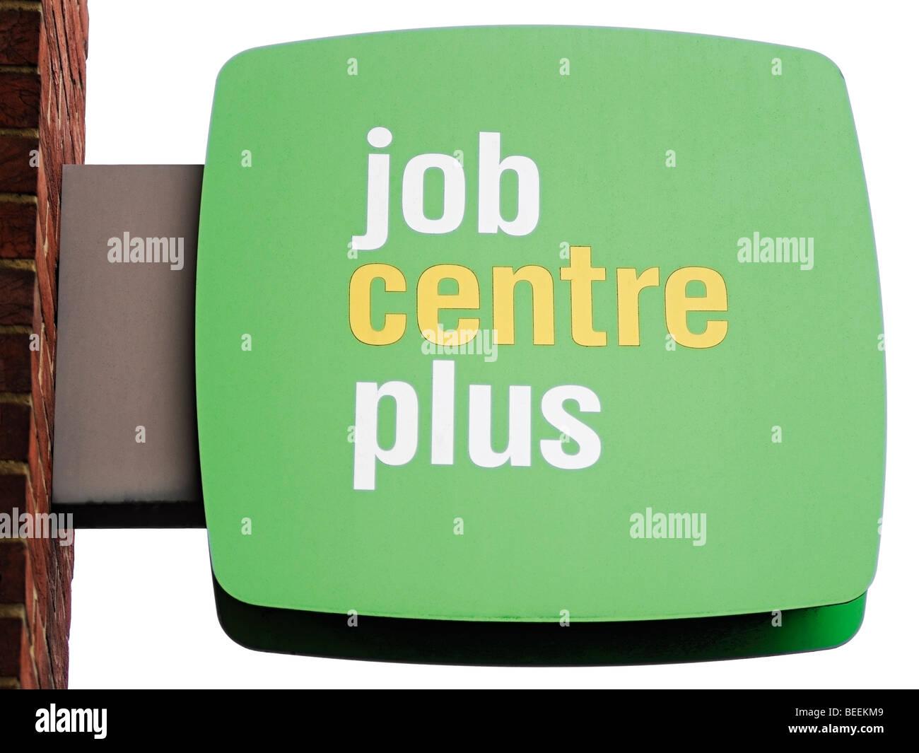 Job Centre Plus Sign, Reino Unido. Foto de stock