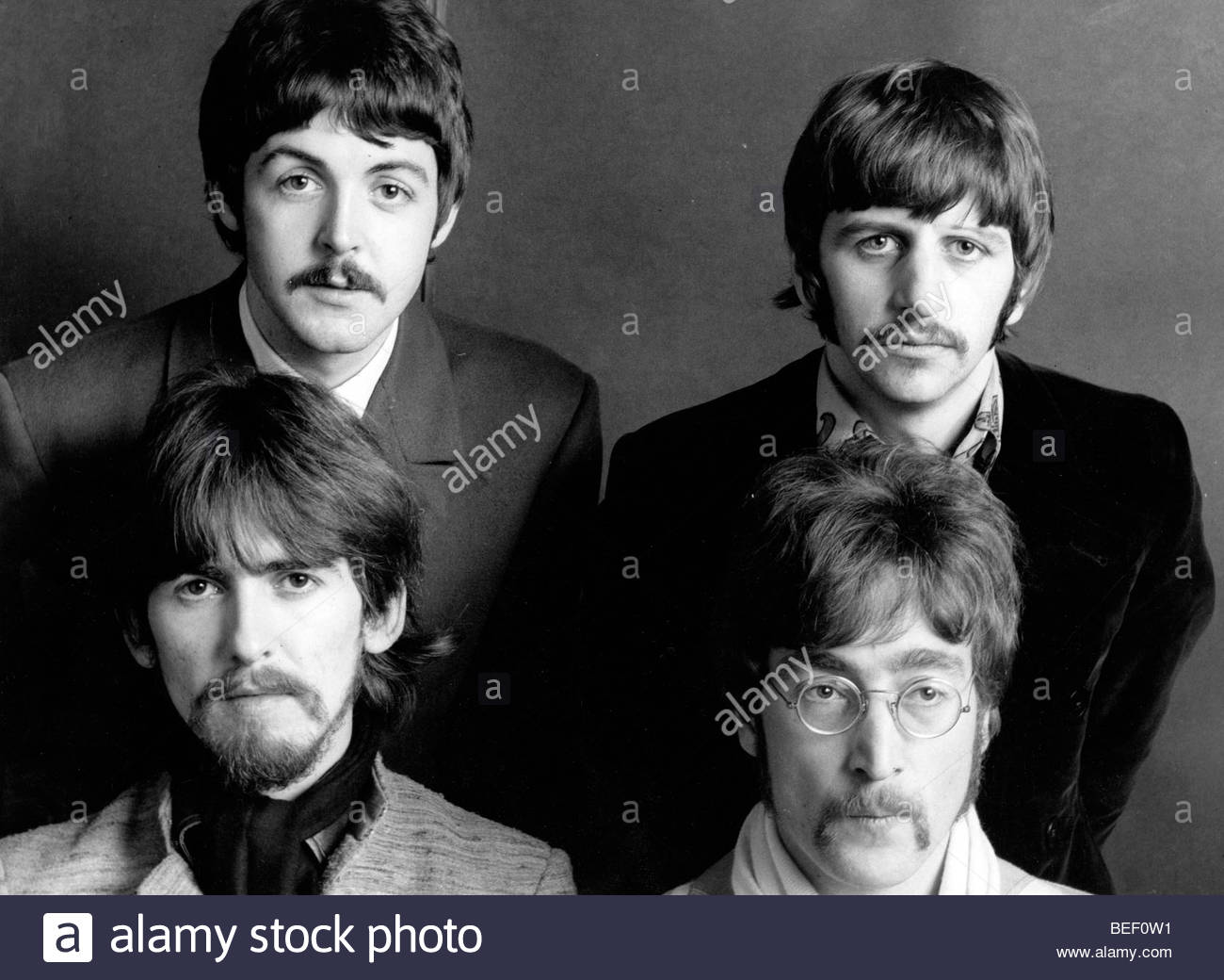 Retrato de la banda de rock The Beatles Imagen De Stock
