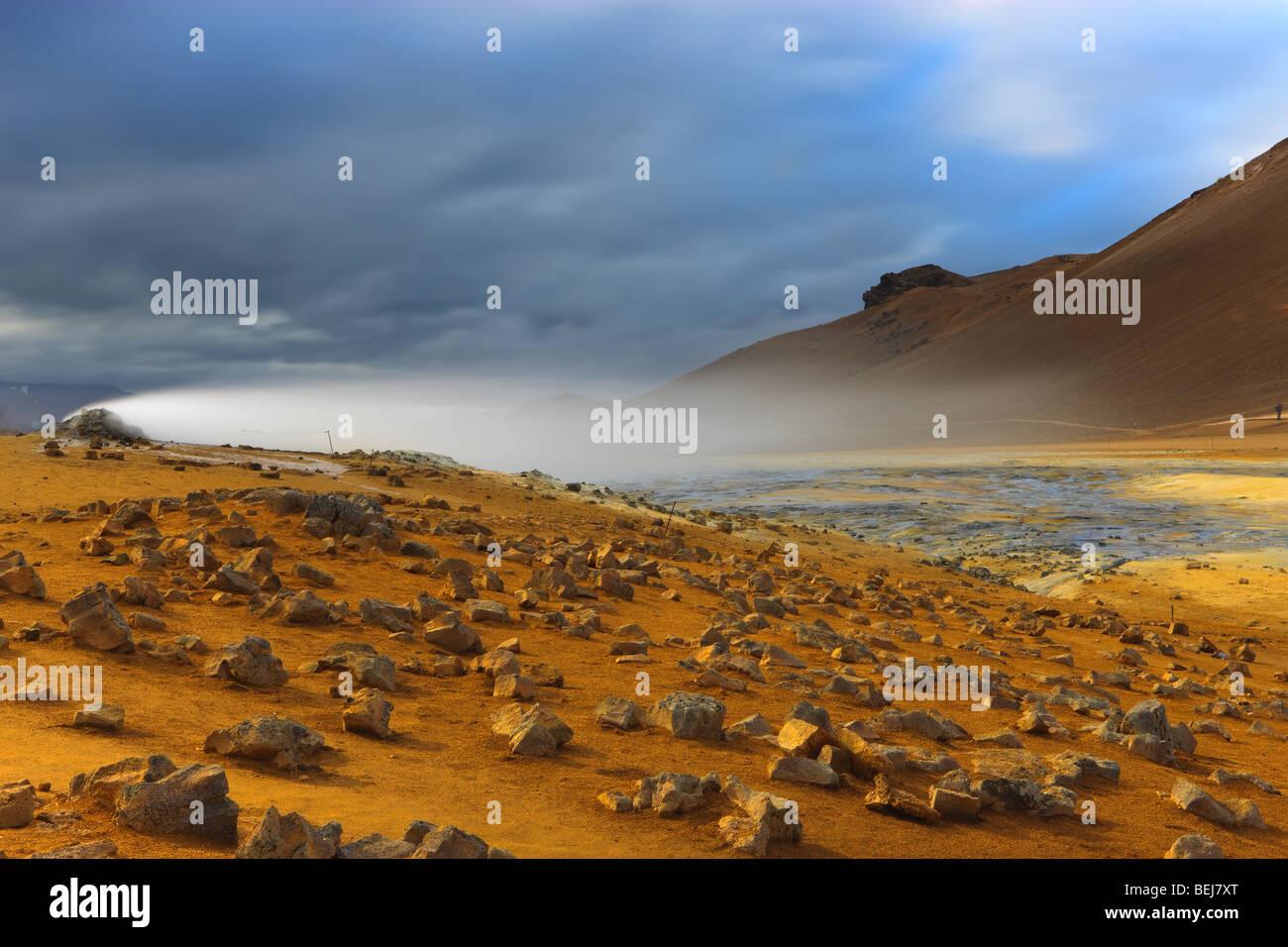 Campos de Solfatara Namaskard, Islandia Imagen De Stock