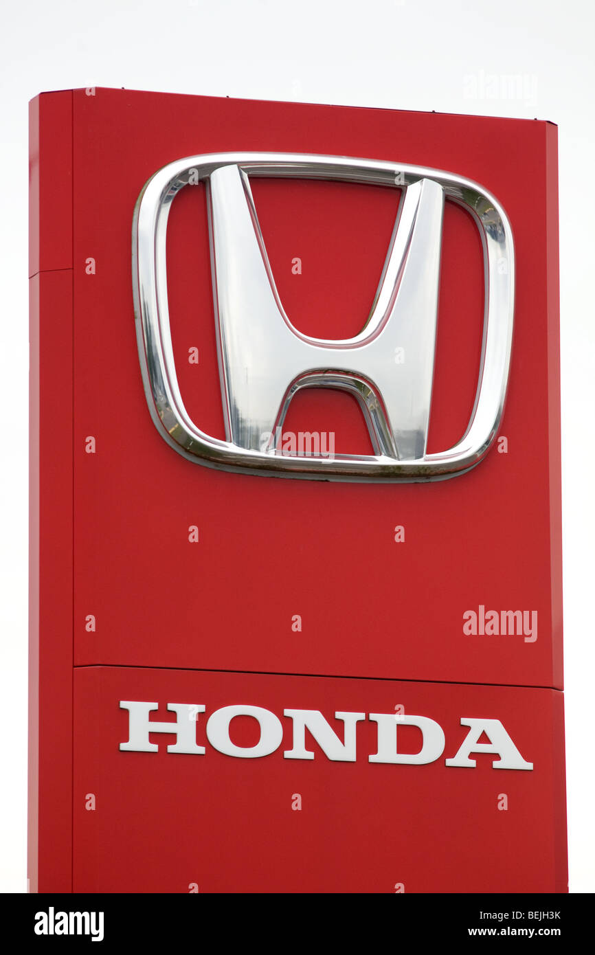 Signo de Honda Imagen De Stock
