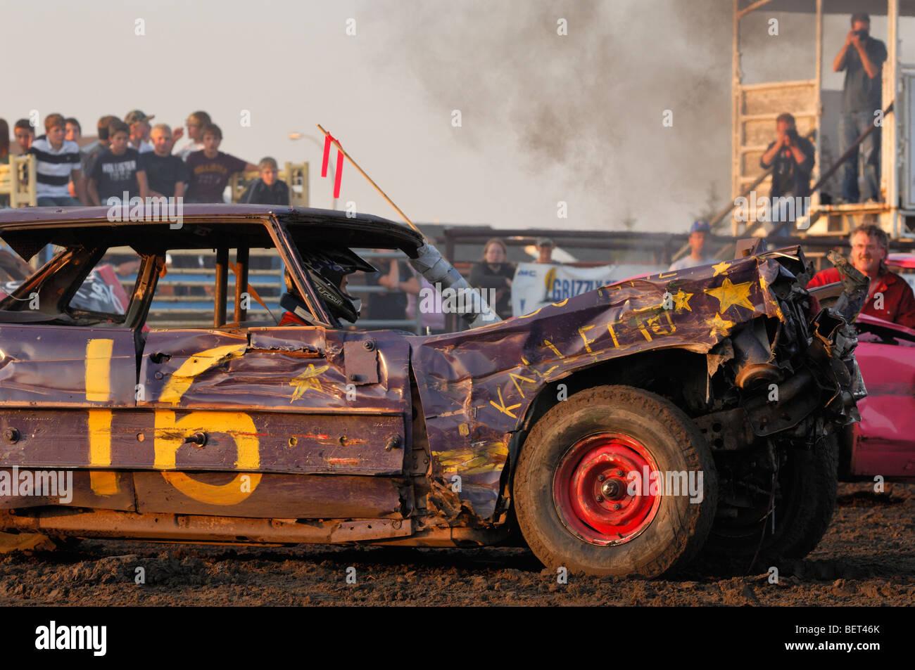 Smash up derby - Barrhead, Alberta, Canadá Foto de stock