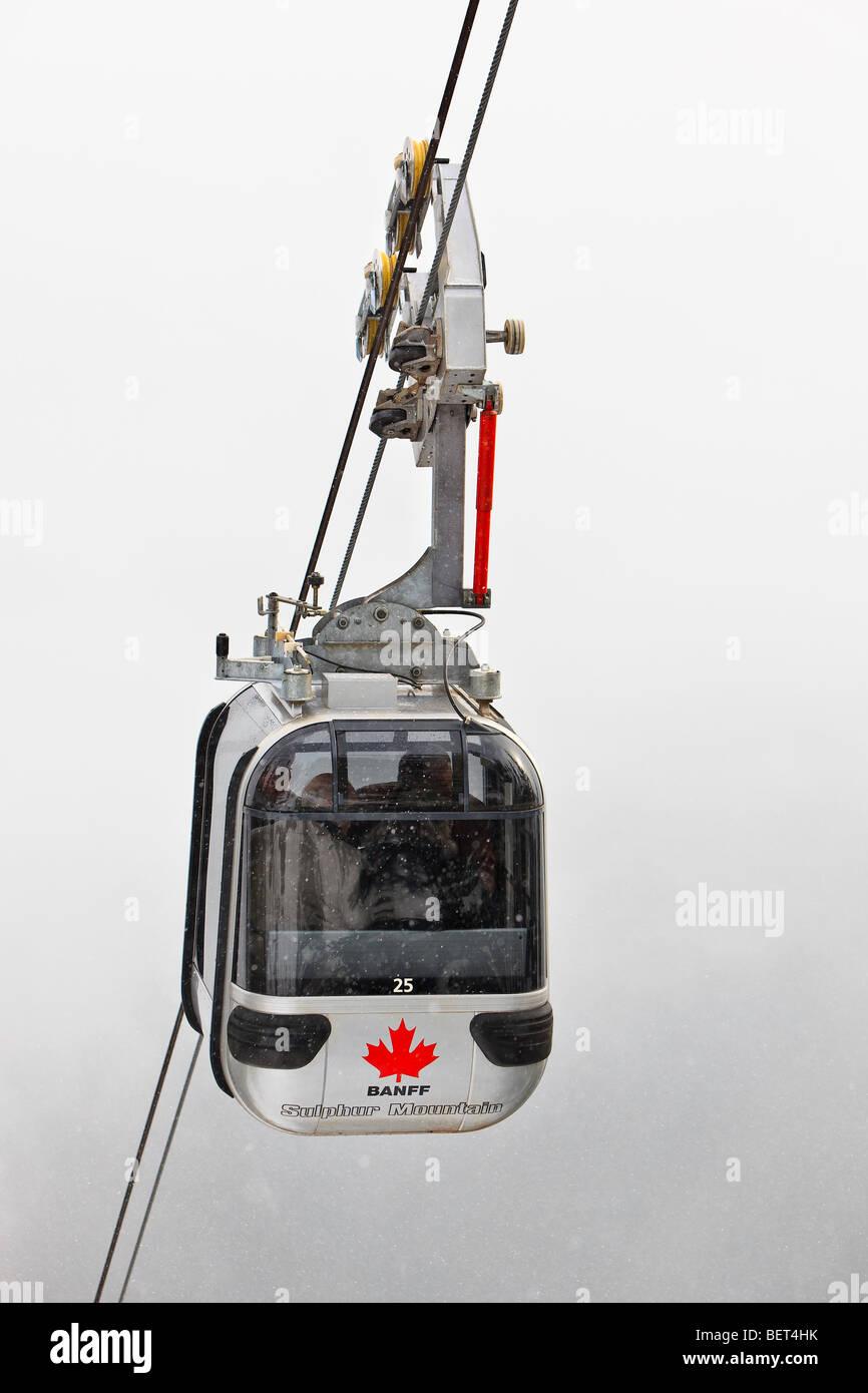 Sulphur Mountain Gondola, Parque Nacional de Banff, Alberta, Canadá Imagen De Stock