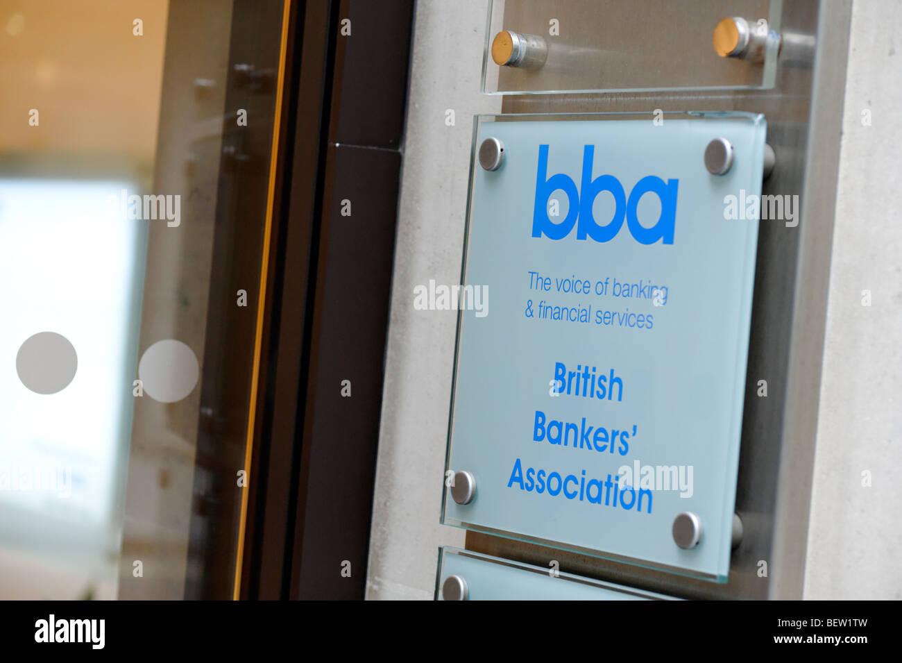 La Asociación de Banqueros Británicos (BBA) la sede. Ciudad de Londres. Gran Bretaña. UK Imagen De Stock