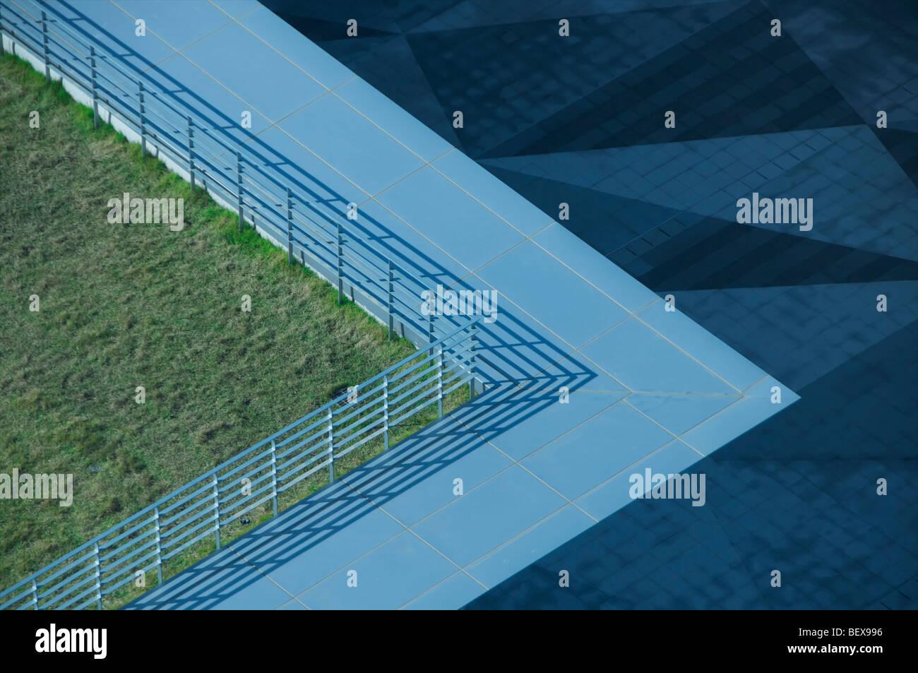 Vista de la arquitectura moderna en el nuevo contexto internacional de la Zona Económica Libre (IFEZ) en Songdo, Imagen De Stock