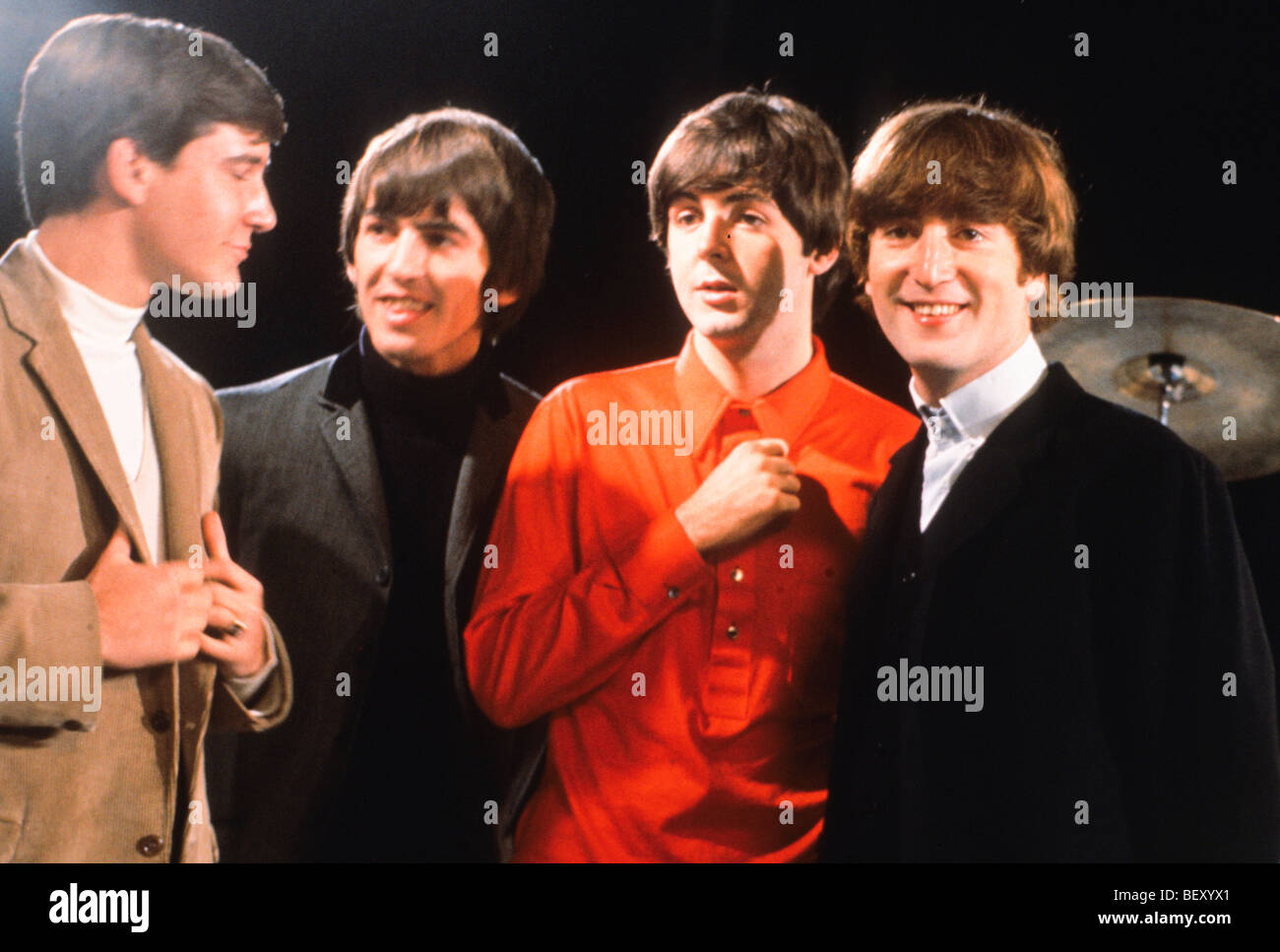Los Beatles'George Harrison'John Lennon'paul mccartney'Ringo Starr Imagen De Stock