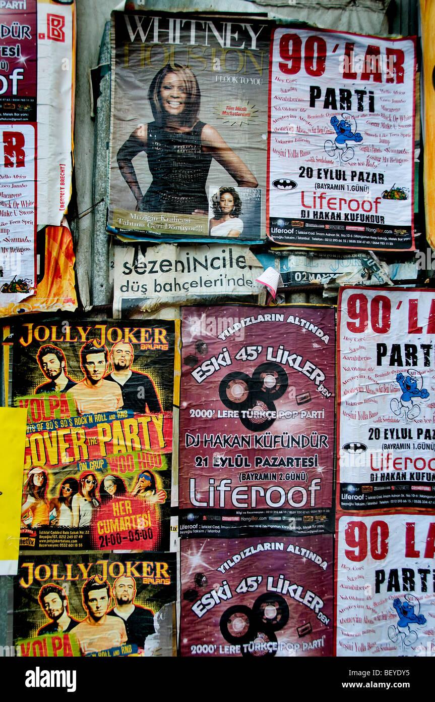 Estambul TURQUÍA firmar billboard poster banner Imagen De Stock