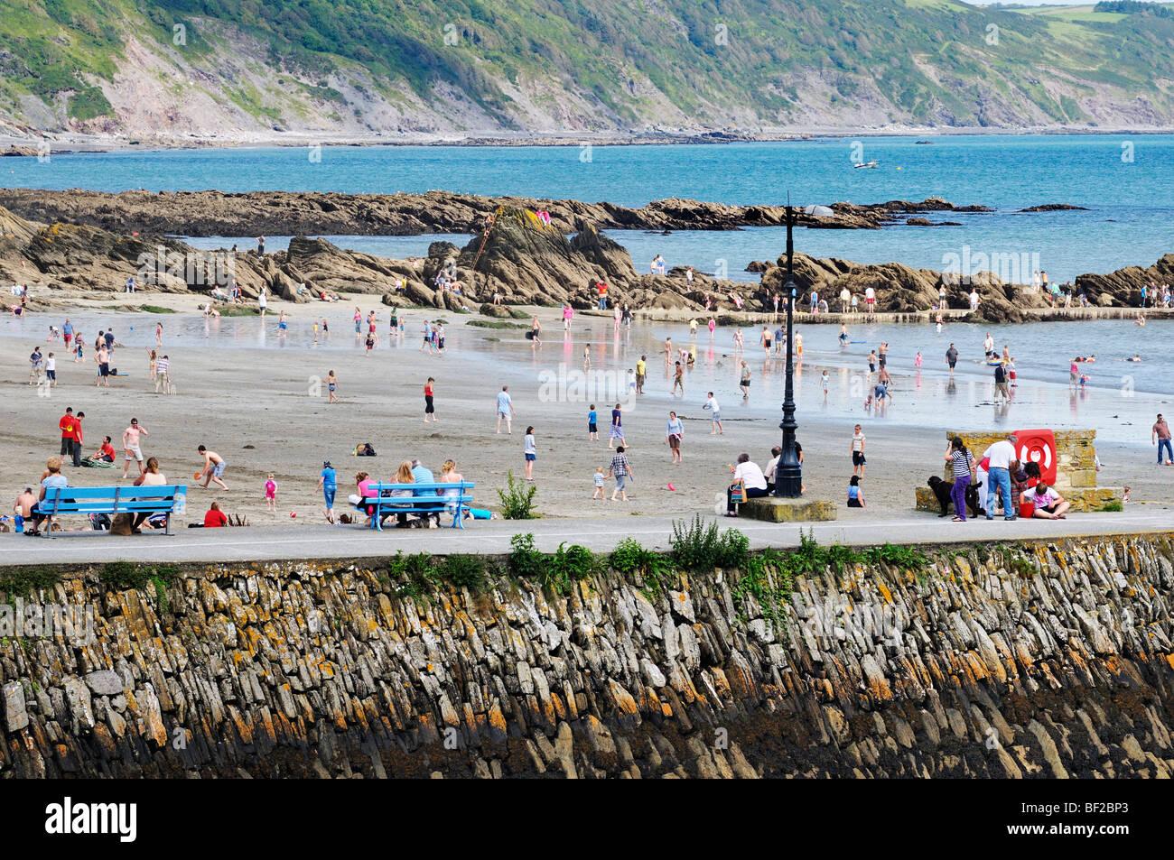 Looe beach, Cornualles, en el REINO UNIDO Imagen De Stock