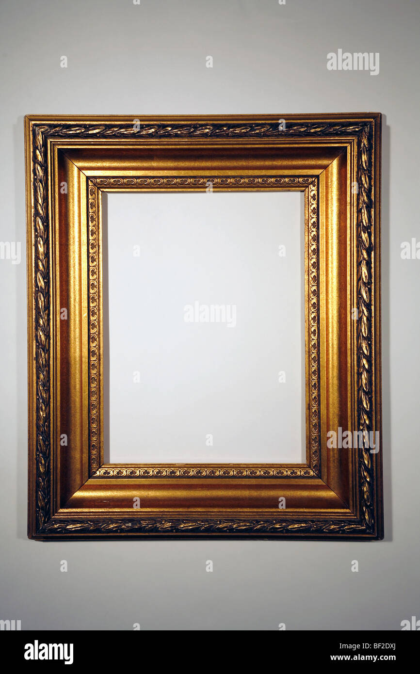 Hermoso marco dorado, goldleaf, doradas, classic, frame Imagen De Stock