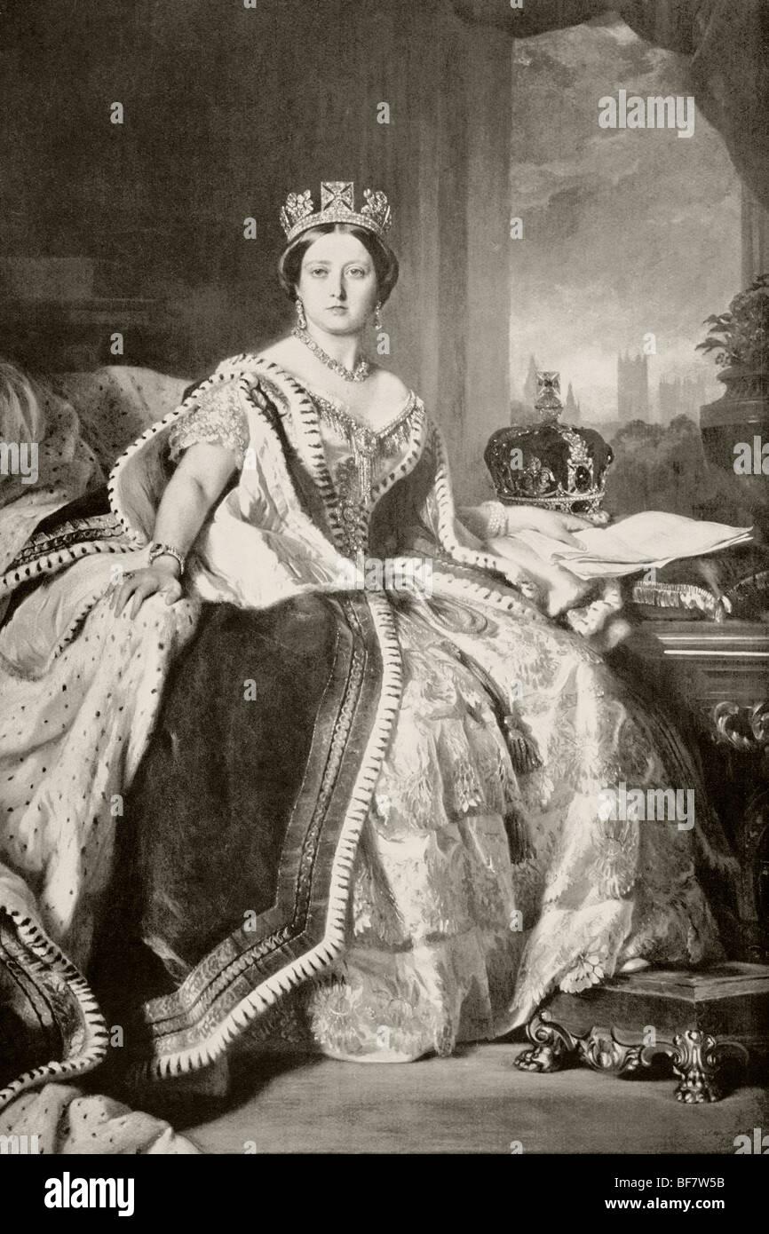 La reina Victoria de 1819 a 1901. Imagen De Stock