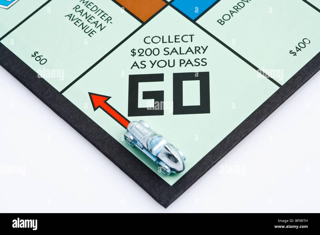 Juego de mesa Monopoly Foto de stock