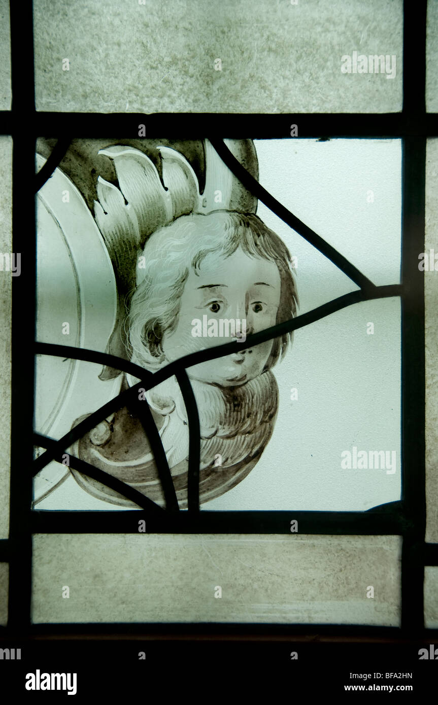 Museum Haarlem Holanda vidrieras de cristal plomado Foto de stock