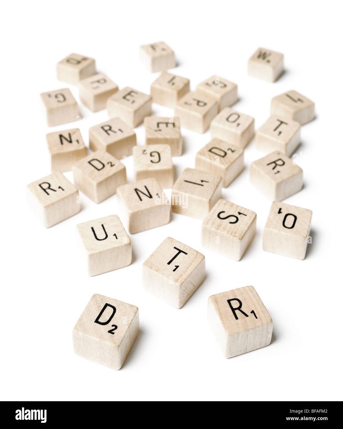 Cartas de un juego de palabras Imagen De Stock