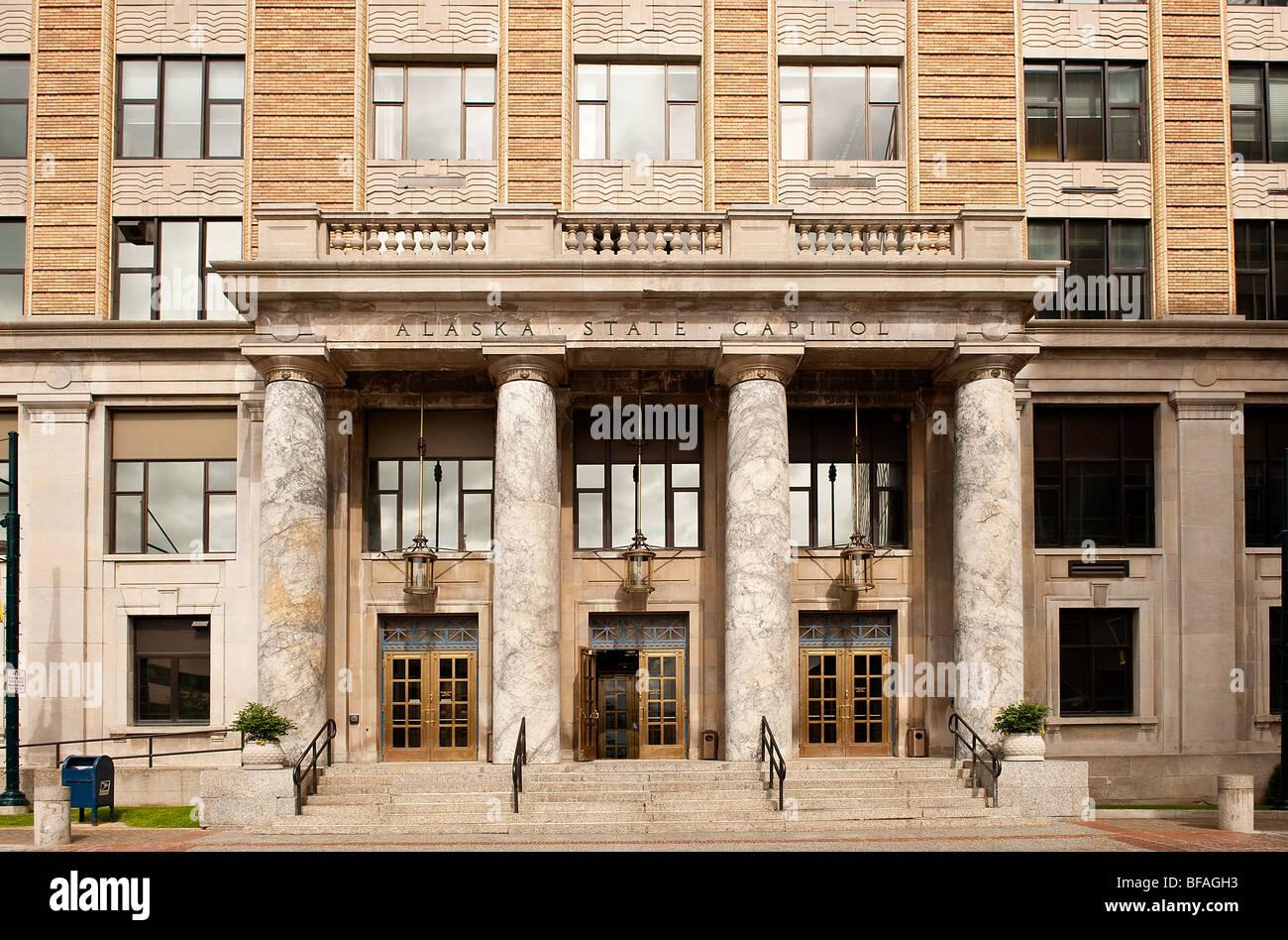 El edificio del Capitolio, en el centro de la ciudad, Juneau, Alaska, EE.UU. Imagen De Stock