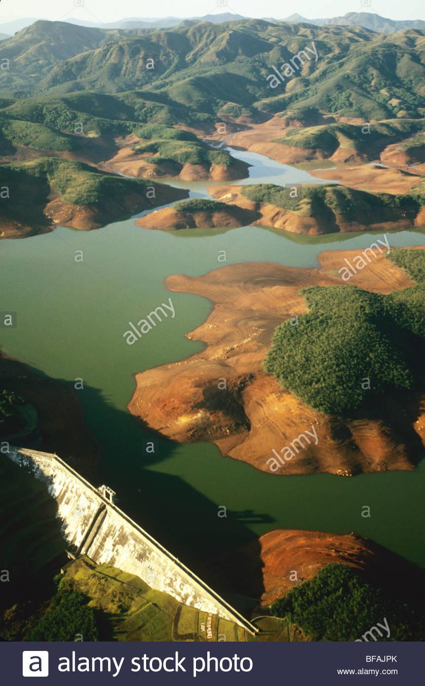 Depósito de agua (antena), Western Ghats, India Imagen De Stock