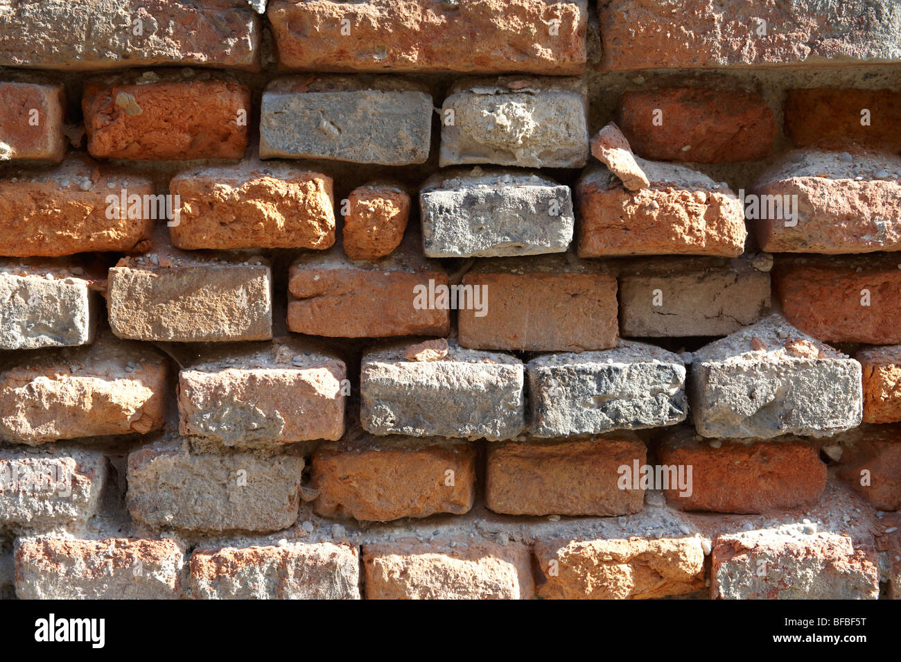 Texturas urbanas - pared de ladrillo rojo Imagen De Stock