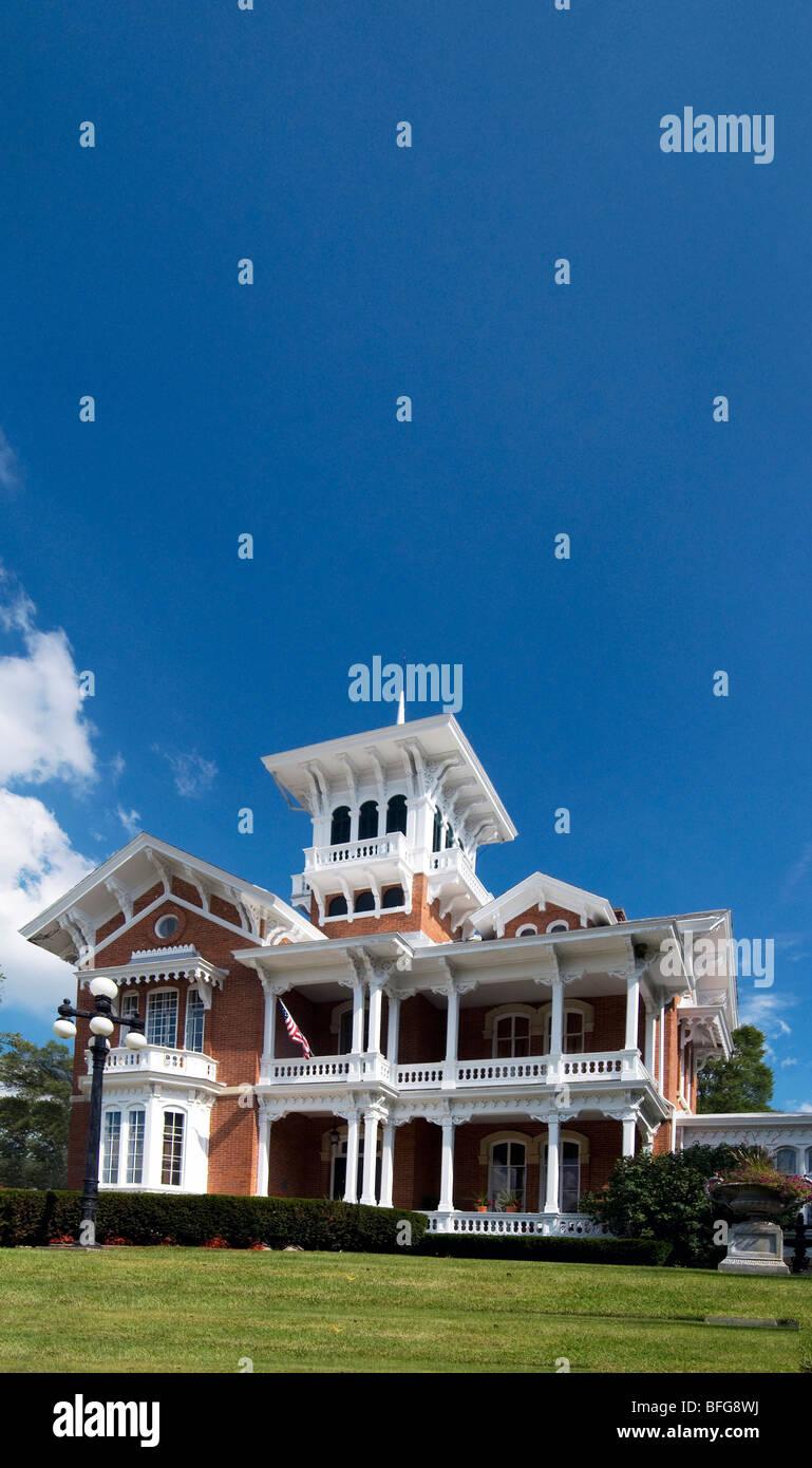 La Belvedere Mansion en Galena, Illinois. Imagen De Stock