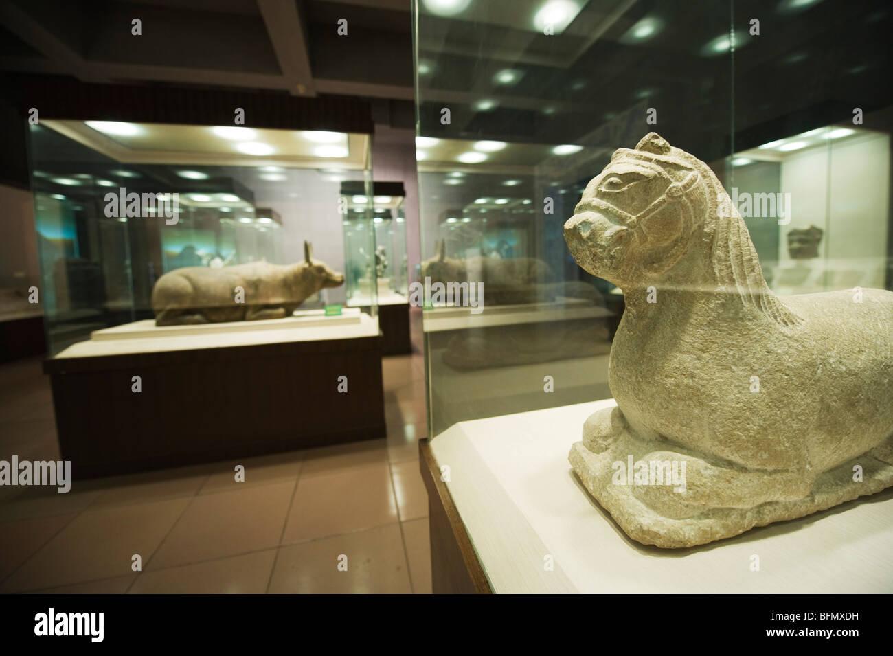 China, la provincia de Ningxia, Yinchuán, museo de las tumbas Xia occidental Foto de stock