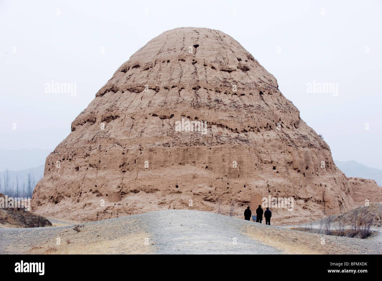China, la provincia de Ningxia, Yinchuán, Western Xia tumbas Foto de stock