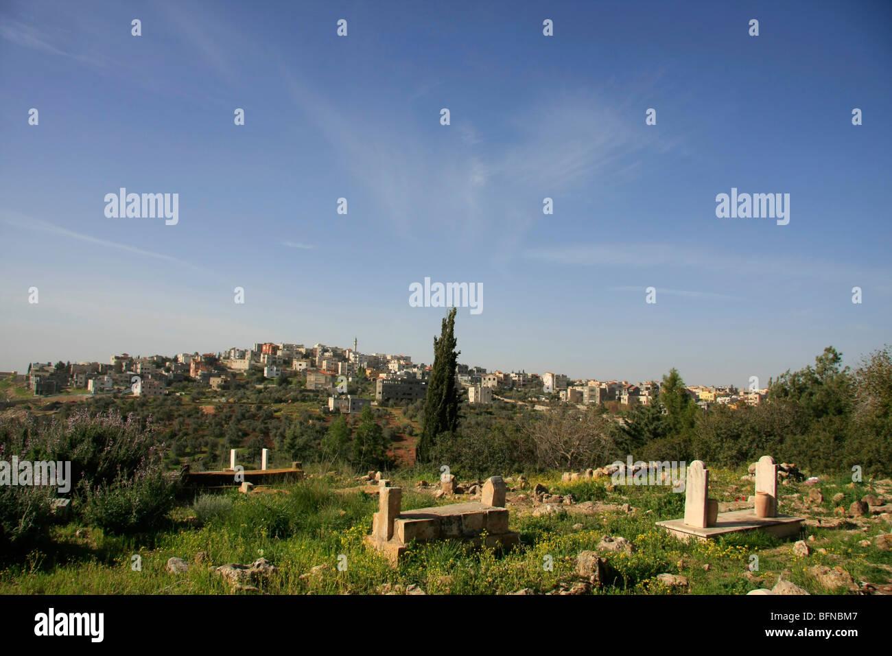 Israel, la Baja Galilea, Cementerio de la aldea árabe Kaukab Abu el-hija Imagen De Stock