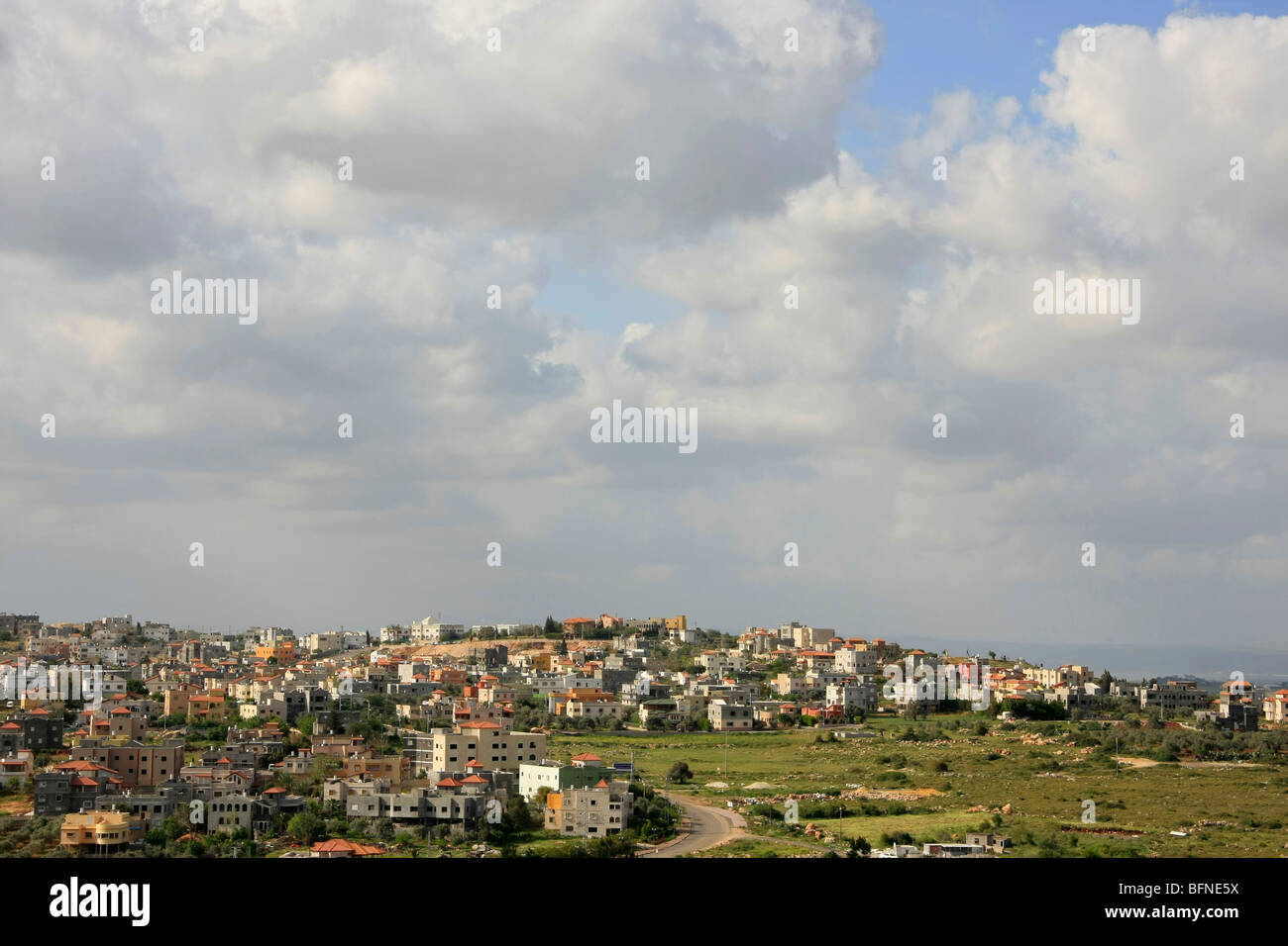 Israel, la Baja Galilea, aldea árabe Kaukab Abu el-hija Imagen De Stock
