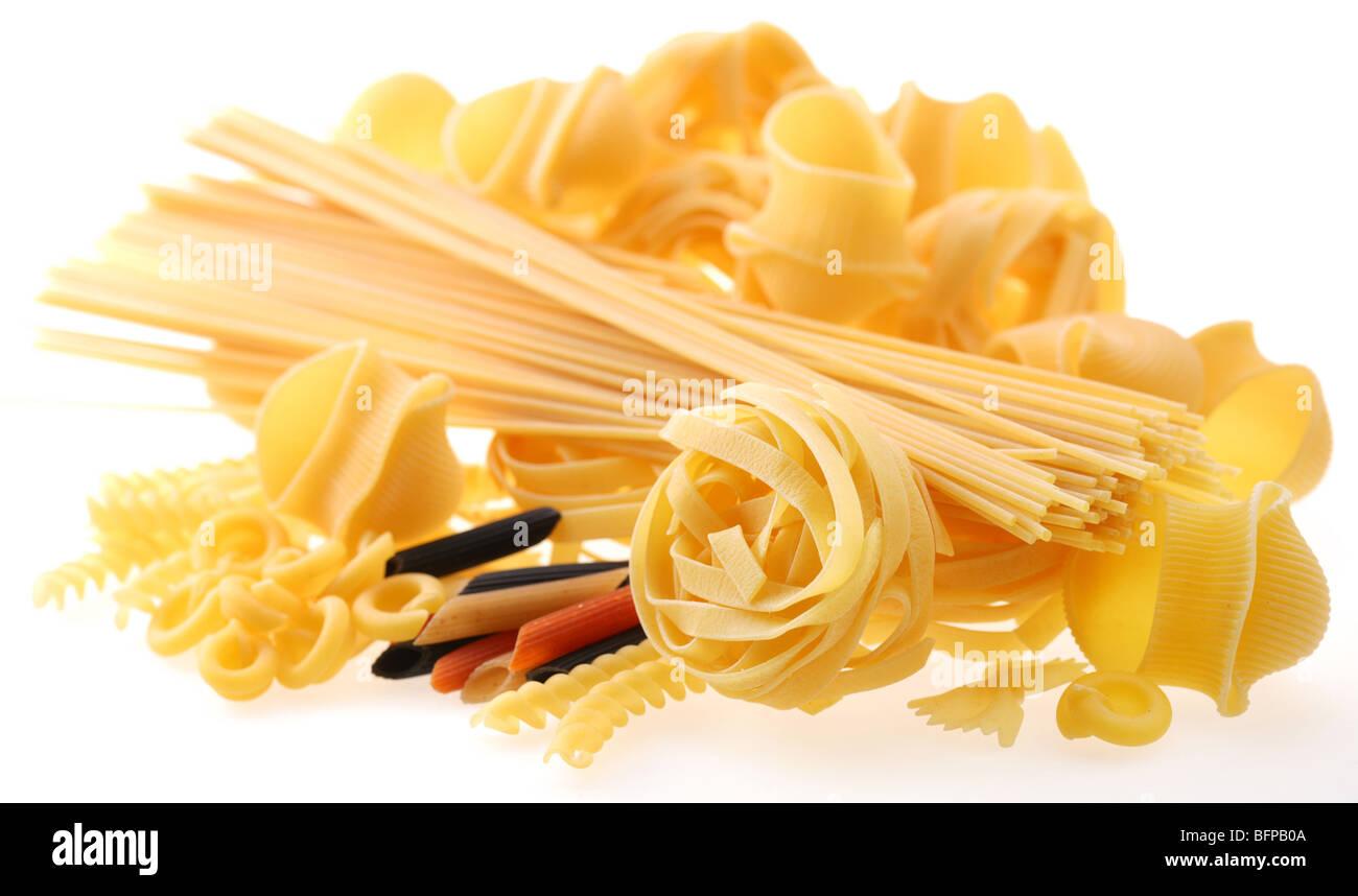 Volver proyectado (iluminados) macarrones (pasta) Imagen De Stock