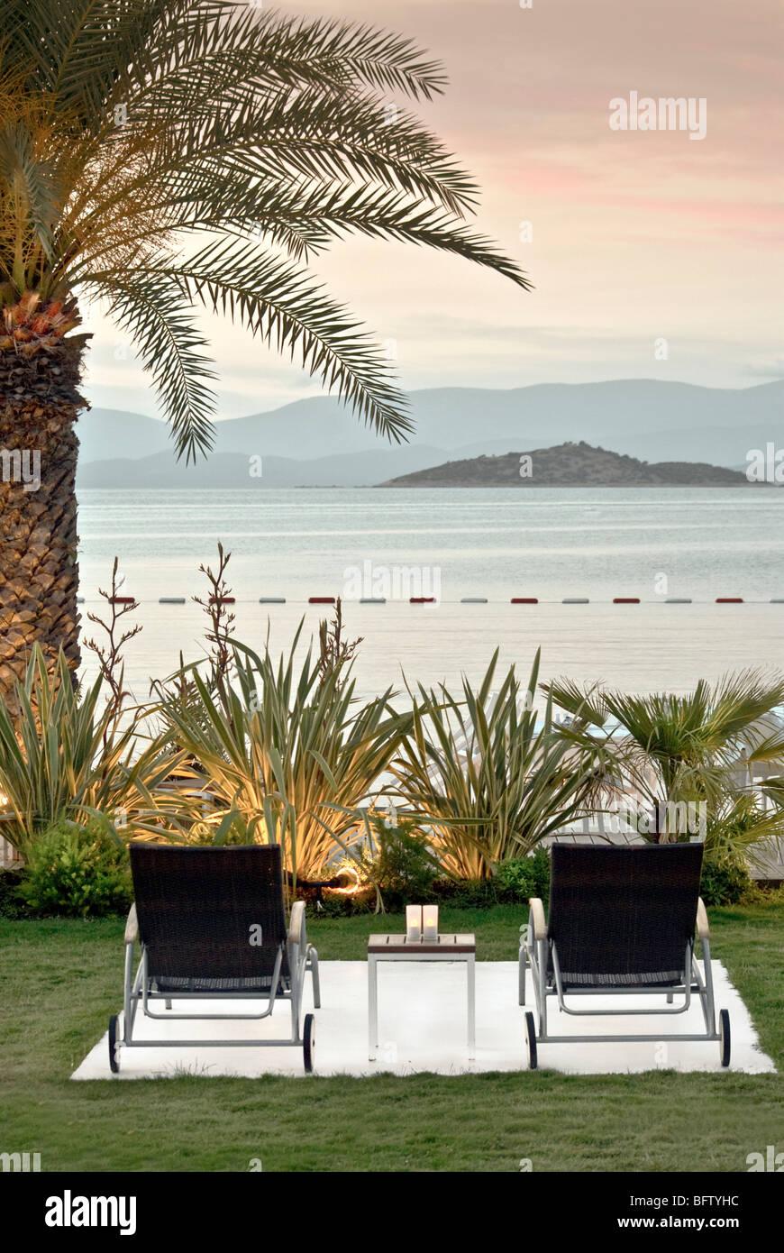 Hotel resort en las playas tropicales Imagen De Stock