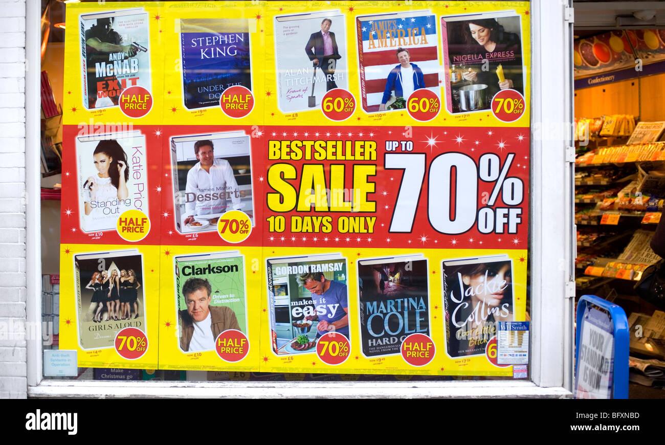 Best Seller de promoción de venta del libro, Baker Street, Londres, Inglaterra, Reino Unido, Europa Foto de stock