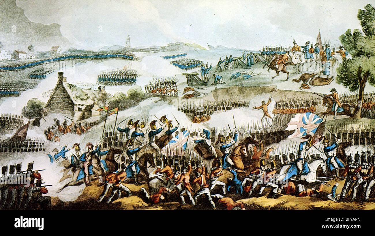 Batalla de Waterloo 1815 - La acción alrededor de Quatre Bras Imagen De Stock