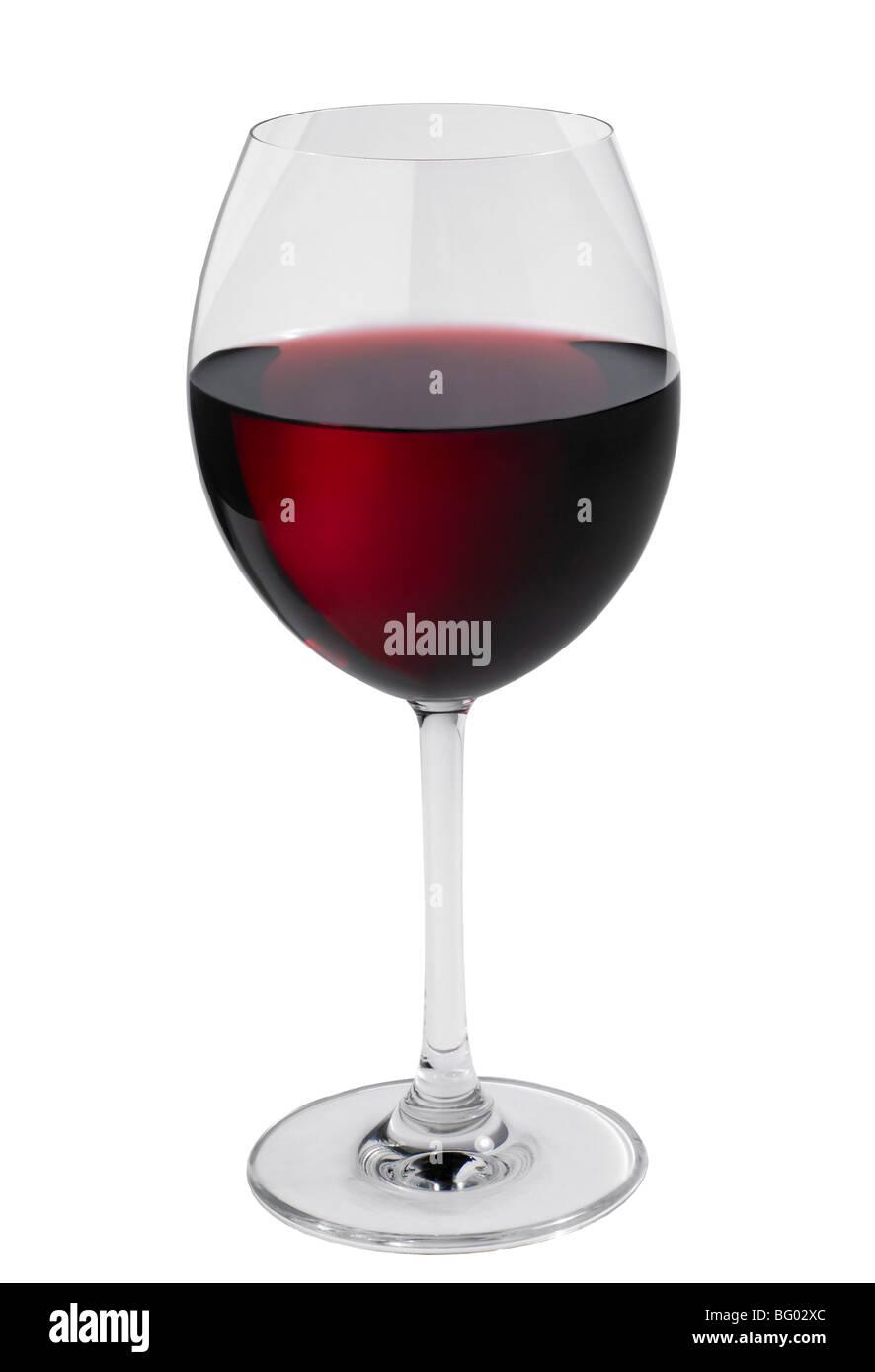 Esbozó un vaso de vino tinto Imagen De Stock