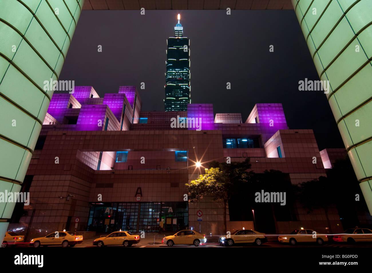 Taipei 101, Taipei, Taiwán, Asia Imagen De Stock