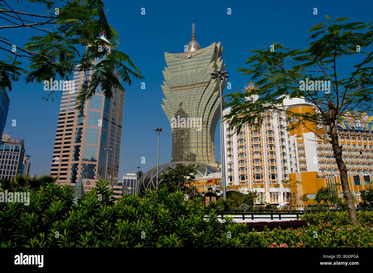 Gran Casino Lisboa, Macao, China, Asia Imagen De Stock