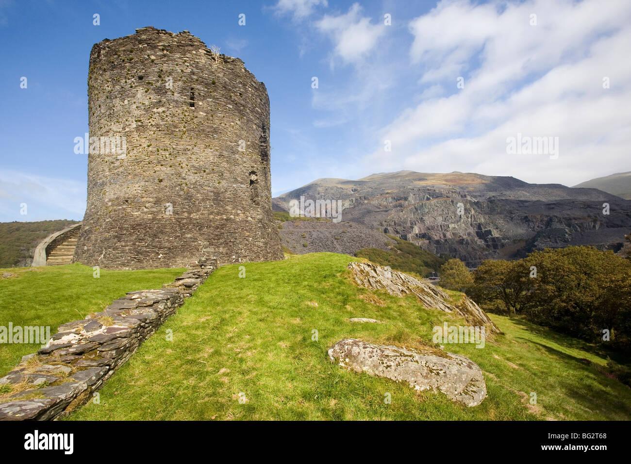 Castillo Dolbadarn, Llanberis, Gales Foto de stock