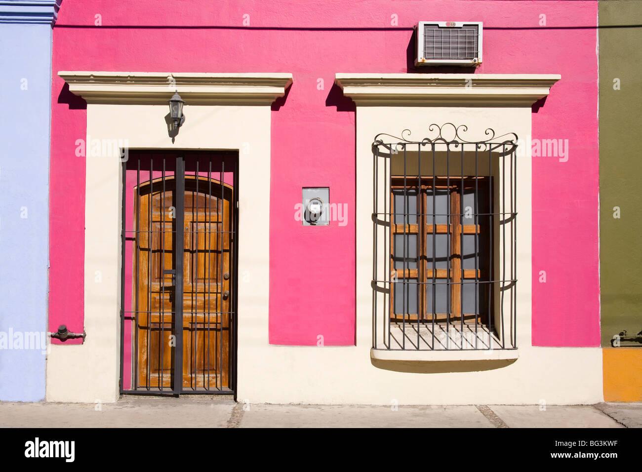La arquitectura colonial en el distrito de la Ciudad Vieja, Mazatlán, Sinaloa, México, América del Imagen De Stock