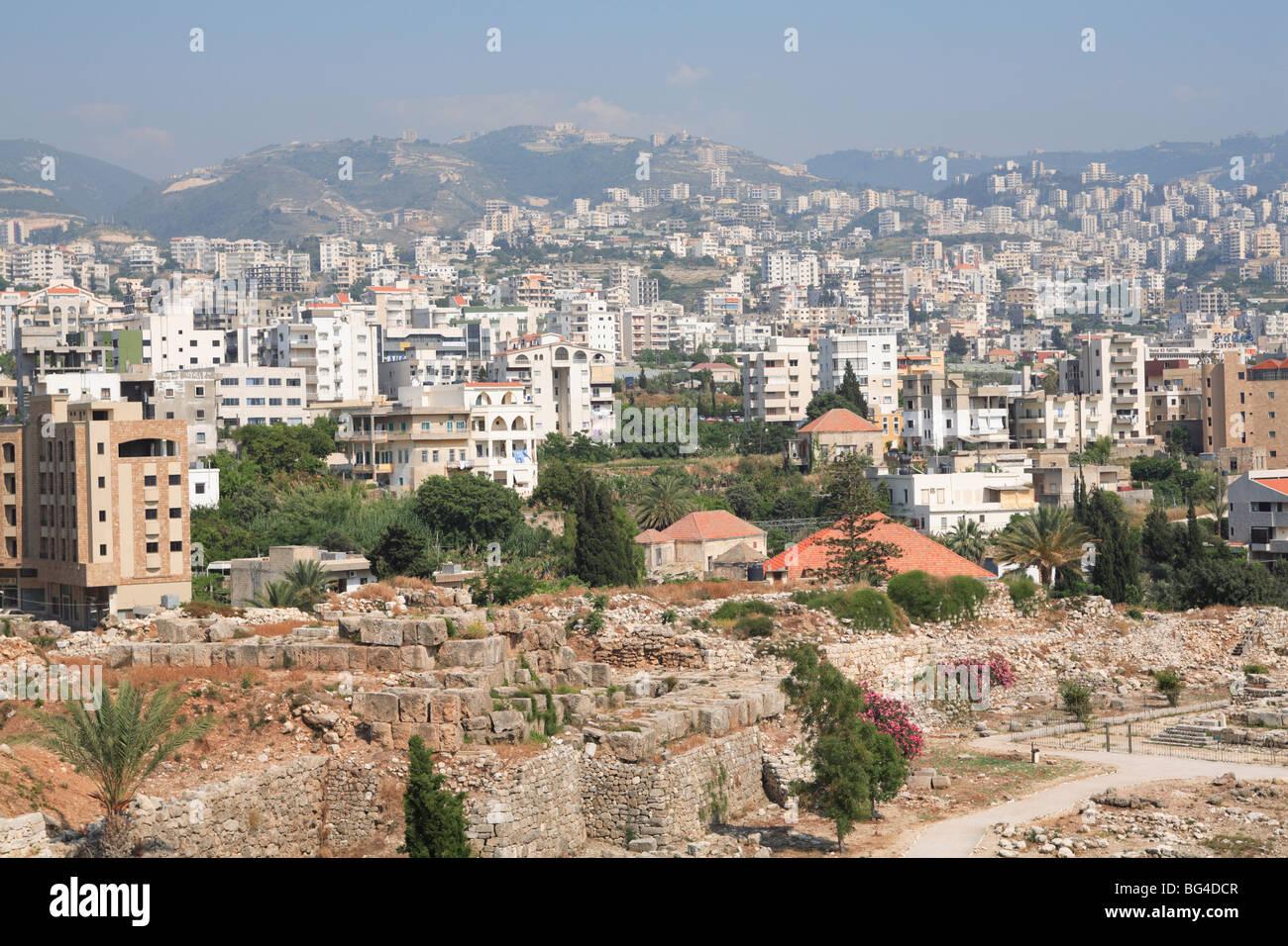 Biblos, Sitio del Patrimonio Mundial de la UNESCO, Jbail, Líbano, Oriente Medio Imagen De Stock