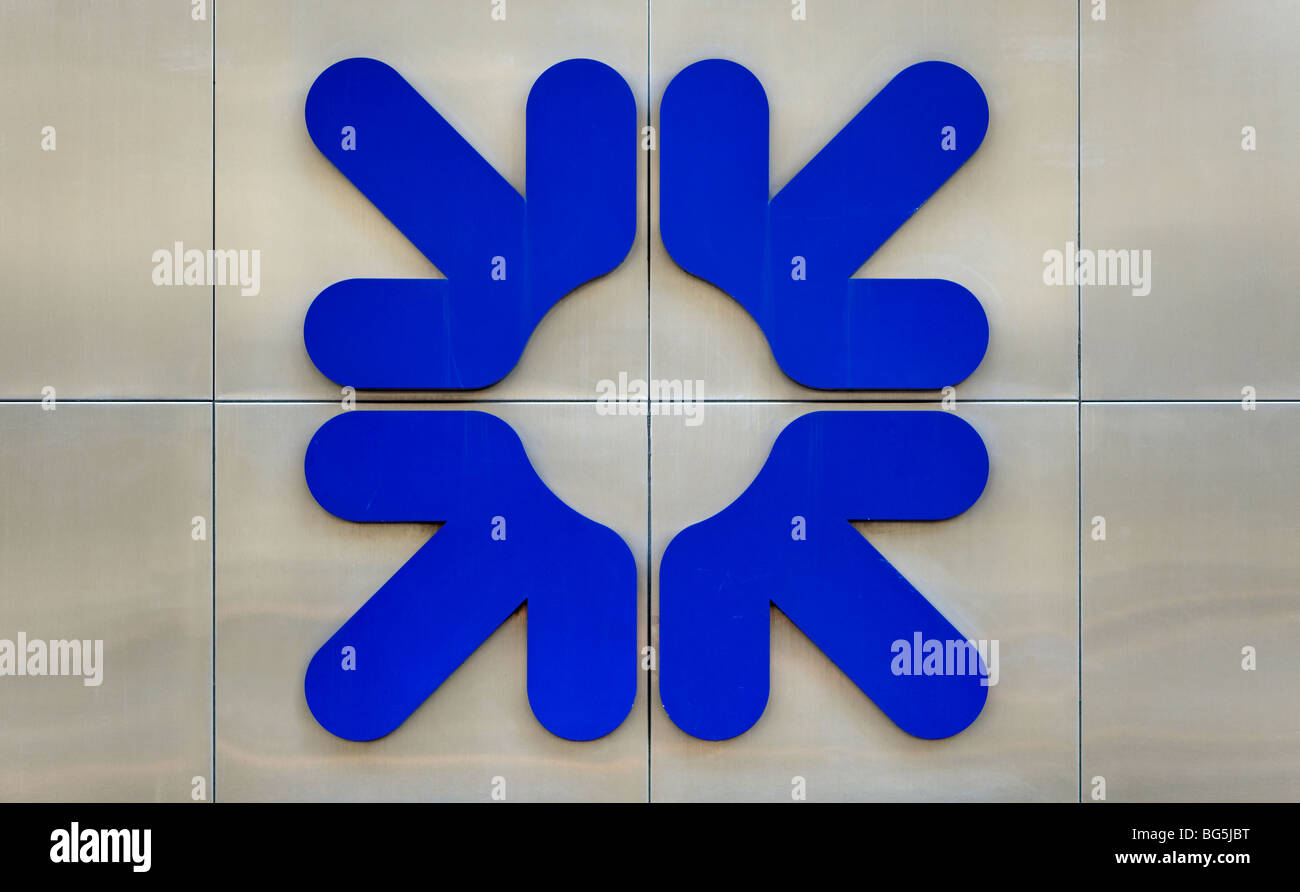 Royal Bank of Scotland RBS firmar/logo Imagen De Stock