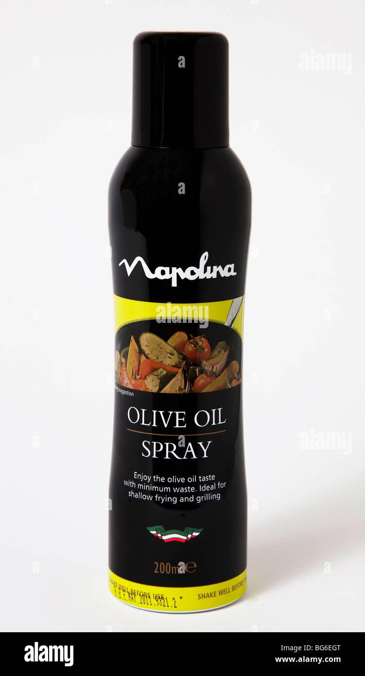 Se puede pulverizar aceite de oliva saludable Imagen De Stock