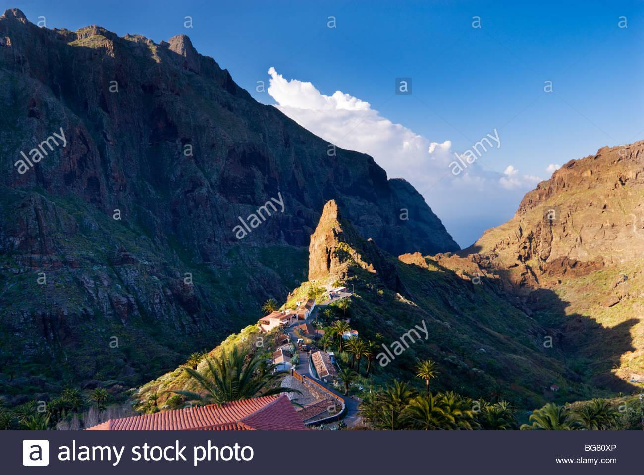 La aldea de Masca, Tenerife, Islas Canarias, España. Imagen De Stock